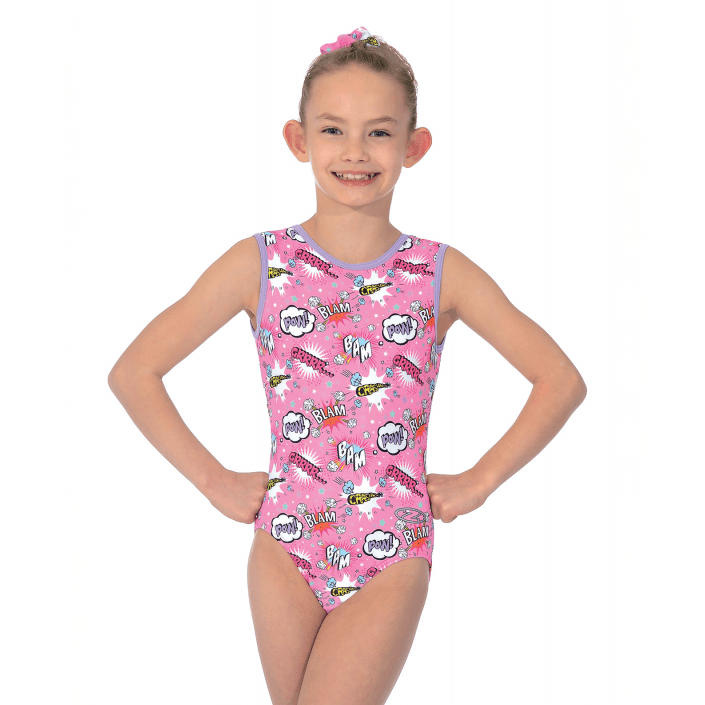 1a3eb2bc722a Comic Print Gymnastics Leotard (junior) – Dainty Dance